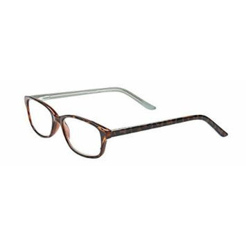 Select-A-Vision Unisex-Adult Optitek Computer Readers 2102DM-125 Rectangular Reading Glasses, black Demi, 1.25