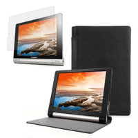 Black Folio Case with Screen Protector for Lenovo Yoga 8 (B6000)