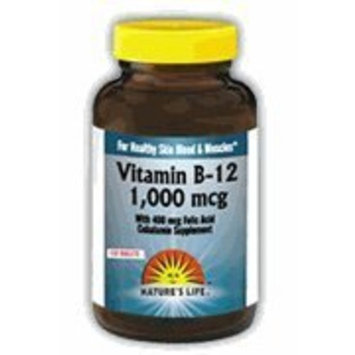 Vitamin B-12 1000mcg - Vegetarian, Yeast-Free Nature's Life 50 Tabs