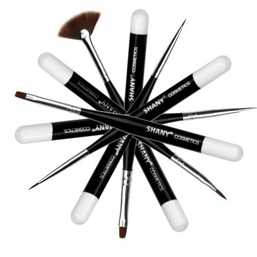 Shany Cosmetics SHANY Professional Nail Brush Set (7 Piece Synthetic Vegan Brush Set), 4 Ounce