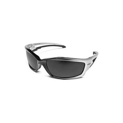 Edge Eyewear Edge Kazbek Safety Glasses, Black Frame - Smoke Lens