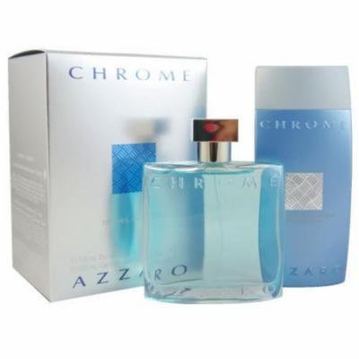 Azzaro Chrome 2 Pcs Set: 3.4 Edt Sp + 6.8 Shower Gel (travel Set)