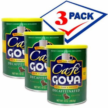 Goya Decafeinated Coffee. Vacuum Can 10 oz Pack of 3.