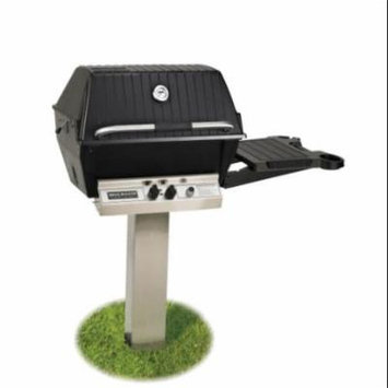 Broilmaster Natural Gas Grill Package with Stainless Steel In-Ground Post & Side Shelf