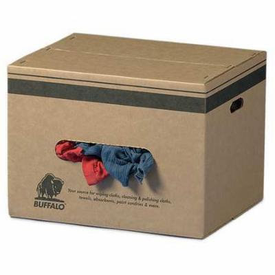 BUFFALO 10064 Cloth Rag, Rcycld Cottn Sweats, 25 lb. Box