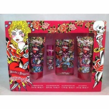CHRISTIAN AUDIGIER ED HARDY HEARTS & DAGGERS 4PC SET 1.7 oz 50ml EDP SPRAY Women