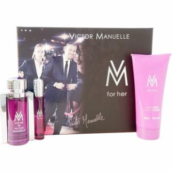 Victor Manuelle VM for Her Gift Set, 3 pc