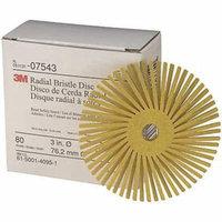3M 24277 Radial Bristle Disc, TA, 3 In Dia, 80G, PK40