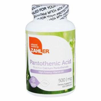Zahler - Pantothenic Acid 500 mg. - 120 Capsules
