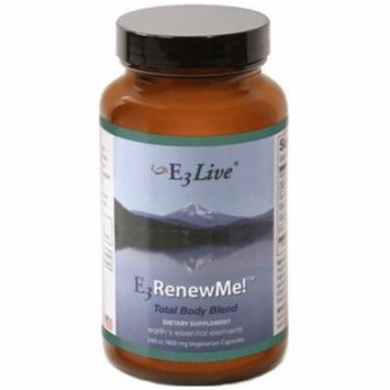 E3Live Renew Me! Total Body Blend-1 Bottle (240ct/400mg each)-Lift and Balance Mood to reduce Stress; Aid in Weight Loss