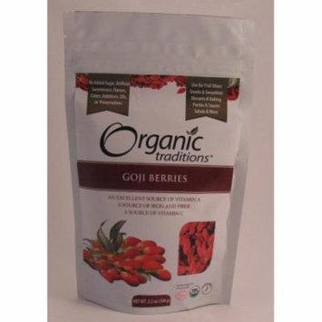 Goji Berries, Dried Organic Traditions 3.5 oz (100g ) Bag