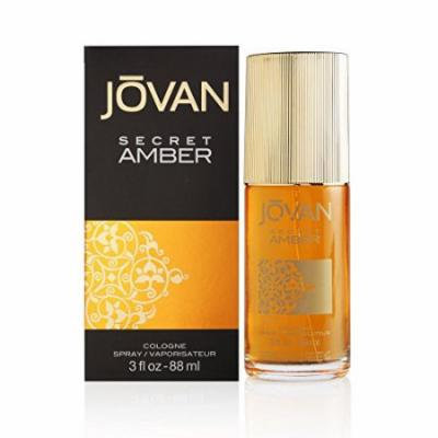 Jovan Cologne Spray, Secret Amber, 3 Ounce