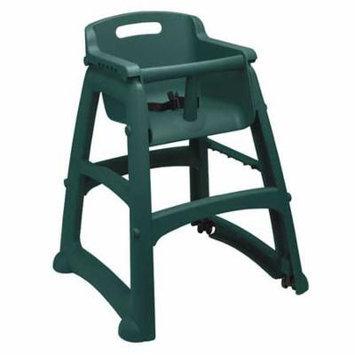 RUBBERMAID FG780608DGRN Youth High Chair, Dark Green