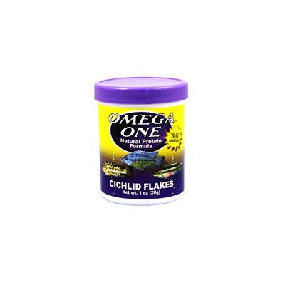 Omega One Cichlid Flakes Cichlid Food, 2.2 oz. ()