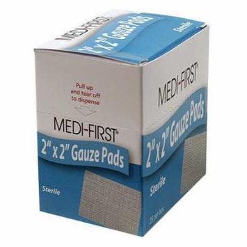 MEDIQUE 60673 Gauze Pad, Sterile, 12 Ply Cotton, PK 25