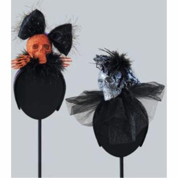 Halloween Fancy Skull Fascinator Headband Hair Accessory, Assorted 2