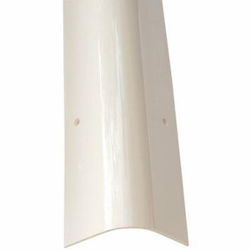 PVC-48R-WH Corner Guard, OAH48In, White, Rounded Angle