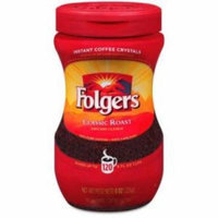 Folgers Classic Roast Instant Coffee Crystals Instant - Caffeinated, Regular - Mountain Grown - Classic - 8 oz - 1 Each