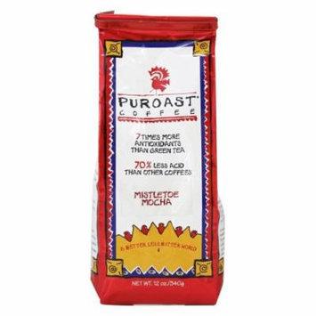 Puroast - Whole Bean Coffee Low Acid Mistletoe Mocha - 12 oz.