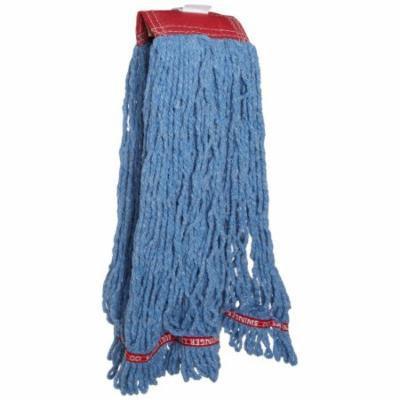 Rubbermaid C253BLU Swinger Loop Shrinkless Mop Heads, Cotton/synthetic, Blue, Large, 6/carton