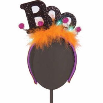 Halloween Boo LED Light-up Fascinator Headband Hair Accessory