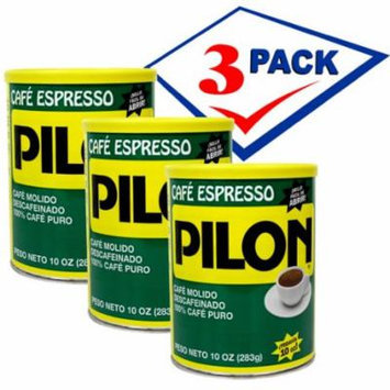 Pilon Decafeinated Cuban Coffee. Vacuum Can 10 oz Pack of 3