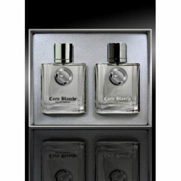 CARTE BLANCHE Men Gift Set Eau de Perfume 3.4oz Spray + 3.4oz Aftershave Spray