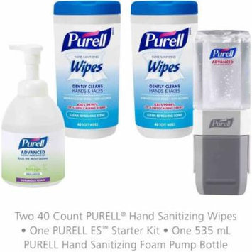 Purell Foam Hand Sanitizer, Wipes and Everywhere System Starter Kit, 4 pc