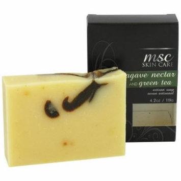 MSC Skin Care + Home - MSC Skin Care Artisan Bar Soap Agave Nectar and Green Tea - 4.2 oz.