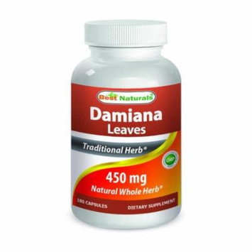 Best Naturals Damiana Leaves 450 mg 180 Capsules