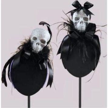 Halloween Glitter Skull Fascinator Headband Hair Accessory, Assorted 2