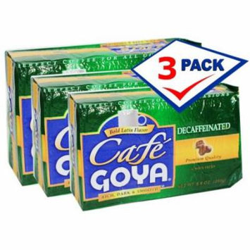 Goya Decaffeinated Coffee. 8.8 oz Pack of 3