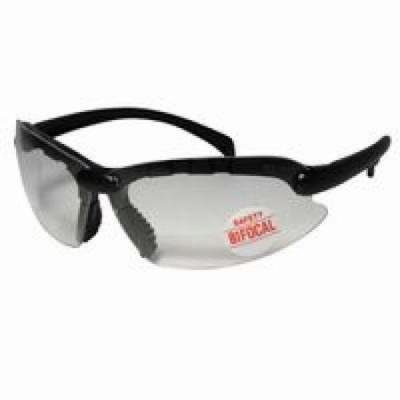 Contemporary Bifocal Safety Glasses, 2.00 Diopter, Black