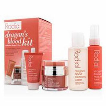 Rodial Dragon's Blood Kit: Cleansing Water 100ml/3.4oz + Tonic 50ml/1.7oz + Sculping Gel 9ml/0.3oz + Moisturiser 10ml/0.