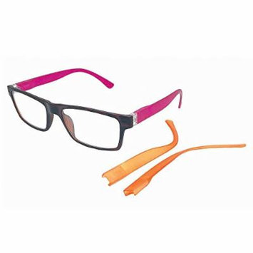Beyond Optics Clarity Fashion Reader with Interchangeable Temples, Magnify 1.50, 0.25 Pound
