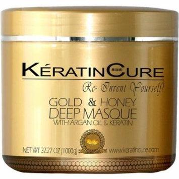 Keratin Cure Gold & Honey Deep Masque Revitalizing Hair Repair 1000g/32floz