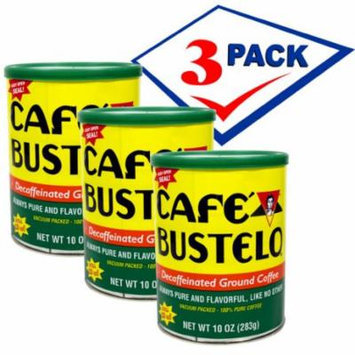 Bustelo Decafeinated Cuban Coffee. Vacuum Can 10 oz Pack of 3.