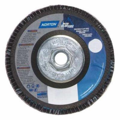 NORTON 66623399189 Flap Disc, 5 In x 36 Grit, 5/8-11