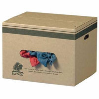 Buffalo Industries 10084 25 lbs. Recycled Colored Cloth Rags - Box