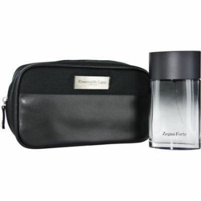 ZEGNA FORTE by Ermenegildo Zegna SET-EDT SPRAY 3.4 OZ & TOILETRY BAG