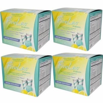Fivelac Probiotic Bonus 4 Pack 240 Pkts-Dietary Supplement; Great Lemon Flavor; More Effective than Yogurt; Easy to take