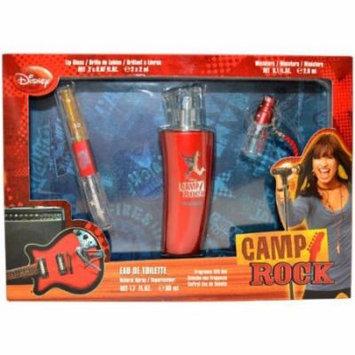 Disney Camp Rock Gift Set (EDT Spray, Mini Spray and Lip Gloss for Kids)
