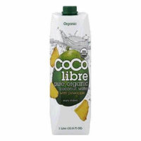 Coco Libre Pure Organic Coconut Water with Pineapple, 33.8 OZ (Pack of 12)