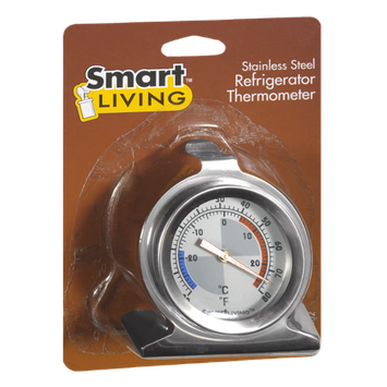 Smart Living Stainless Steel Refrigerator Thermometer