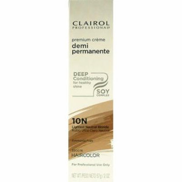 Clairol Premium Cr?me Demi Permanent Hair Color - #10N Lightest Neutral Blonde 2 oz. (Pack of 2)