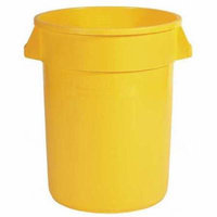 RUBBERMAID FG264388YEL Food-Grade Waste Container,44 gal.,Ylw G4014300