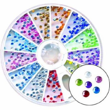 Amazing Shine Nail Art - Rhinestones Round Mix 4-Count (Pack of 2)