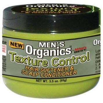Africa's Best Men's Organics Texture Control Hair Softener & Scalp Conditioner 3.5 oz. (Pack of 2)