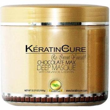 Keratin Cure Chocolate Deep Masque Revitalizing Hair Repair 1000g/32floz