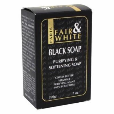 Fair & White Black Soap 7 oz. (Pack of 6)